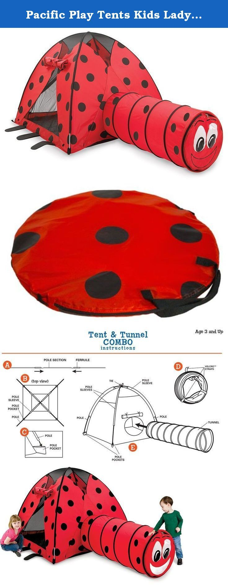 Pacific Play Tents Kids Lady Bug Dome Tent and Crawl Tunnel Combo for Indoor / Outdoor Fun. Encourage hours of creative play with this ladybug tent and ...  sc 1 st  Pinterest & 326 best Play Tents u0026 Tunnels Sports u0026 Outdoor Play Toys u0026 Games ...