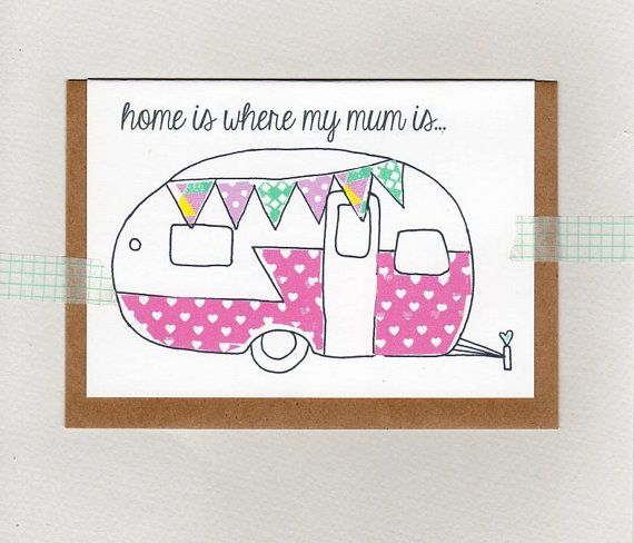 home is where my mum  mom is . mothers day card by ThePaisleyFive