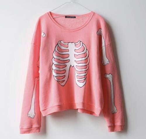 Pink sweater pastel goth grunge