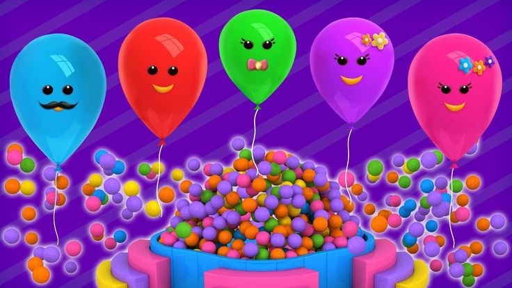 Learn Colors with Balloons Finger Family | Finger Family Songs