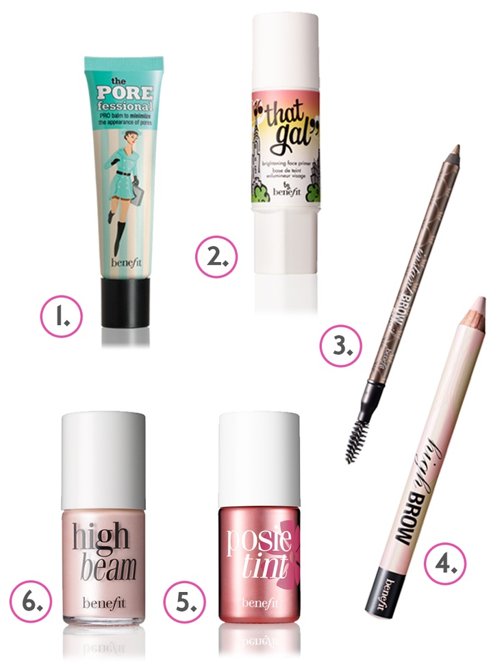 Benefit Makeup-  The perfect 6 pieces you need in your makeup bag!
