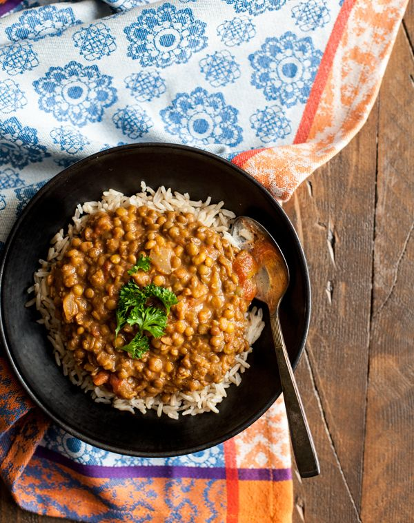 Slow Cooker Masala Lentils + Hamilton Beach Slow Cooker Giveaway!   The Full Helping