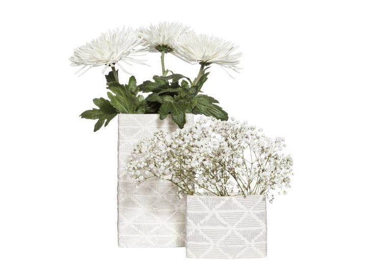 Nate Berkus for Target Large White Textured Ceramic Vase ($20) Small White Textured Ceramic Vase ($15)