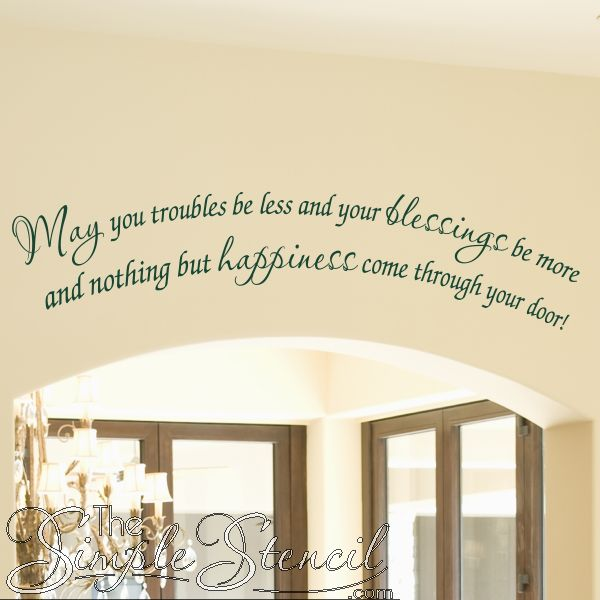Foyer Paint Quote : Best wall stencil quotes ideas on pinterest painted