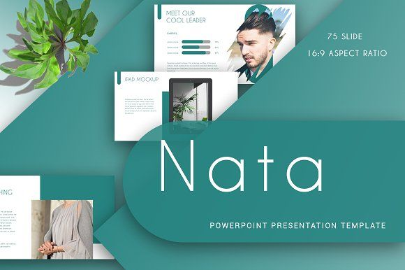 NATA Powerpoint Template by Maspiko on @creativemarket