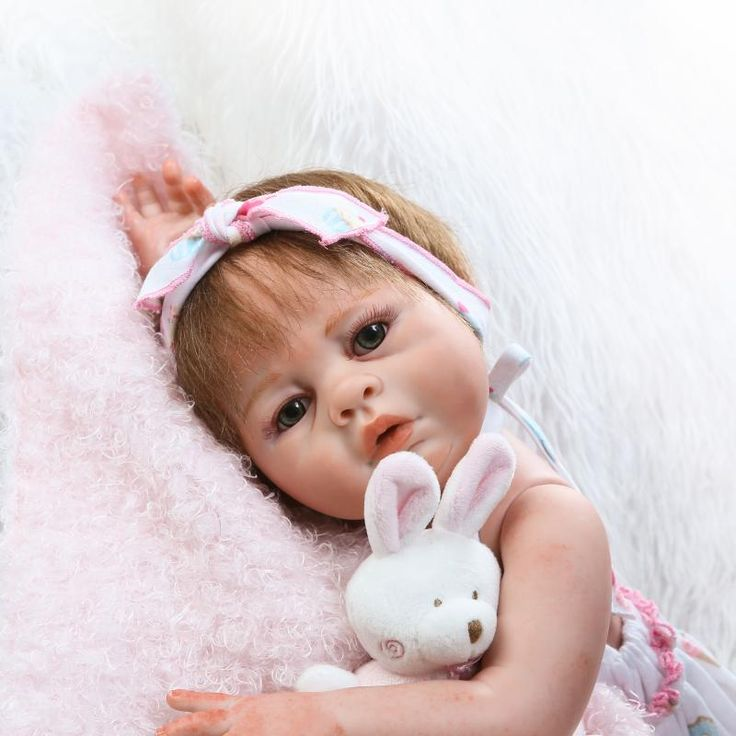 """==> [Free Shipping] Buy Best 20"""" Full Body Silicone Reborn Baby Girl Doll Toy Newborn Toddler Princess Babies Alive Bebe Bathe Toy Girls Bonecas Kids Gift Online with LOWEST Price 