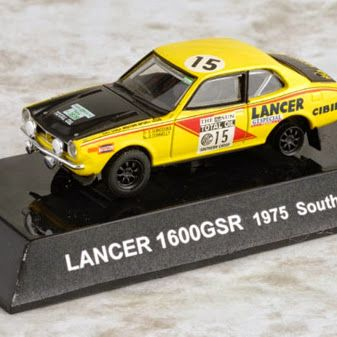 1/64 Japan CM's Rally Car Collection SS17 MITSUBISHI LANCER 1600GSR No. 15 Southern Cross 1975 Die-cast Figure Yellow http://www.amazon.com/gp/product/B00N1MMQ0Q