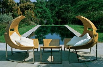 Emu Alveo Chaise Longue with Footrest - Contemporary - Outdoor Chaise Lounges - zfurniture.com