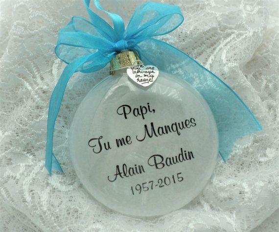 Memorial Ornament Papi Tu me Manques for by BrushedByAnAngel
