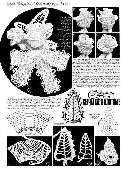 Irish Crochet Flower Motif - Blog Irina_Horn: Liveinternet -  Russisch Service Online-Tagebücher