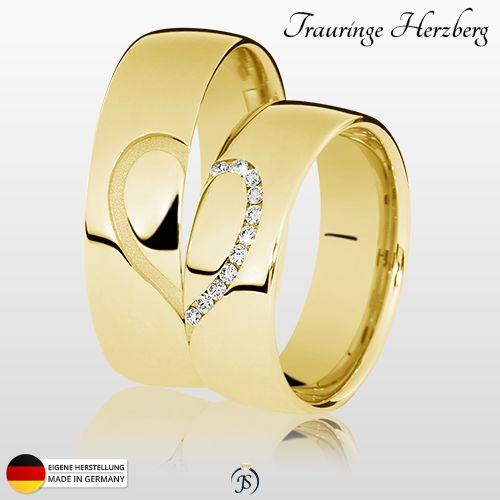 NEU: Trauringe Herzberg   11 x 0,01 Karat Brillanten ▪ ab 333er Gold  ab 700,-€ / Paarpreis ▪ eigene Herstellung  inkl. Versand ▪ inkl. Ring-Etui ▪ inkl. Gravur