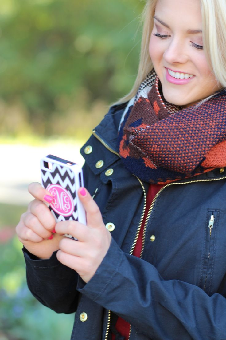 Monogrammed Cell Phone Cases at www.MARLEYLILLY.com!