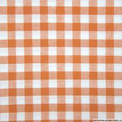 Tissu Coton Vichy 9mm Orange