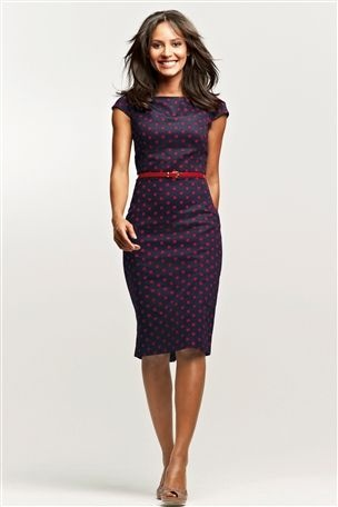Navy and red dress- for a christening or smart day out maybe