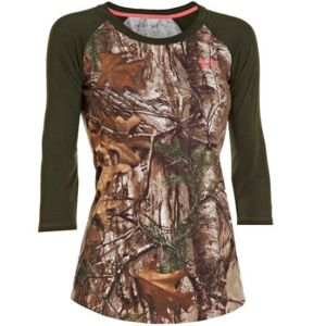 Under Armour Women's Charged Cotton Camo 3/4-Sleeve Tee- i neeeedddd itt!!!