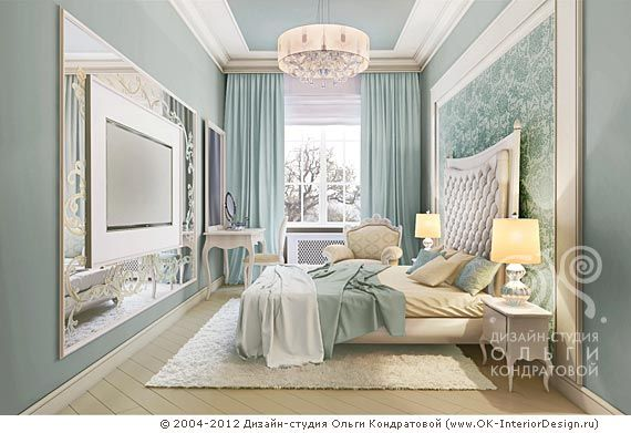 3D дизайн мятной спальни - http://www.ok-interiordesign.ru/ph18_bedroom_interior_design.php