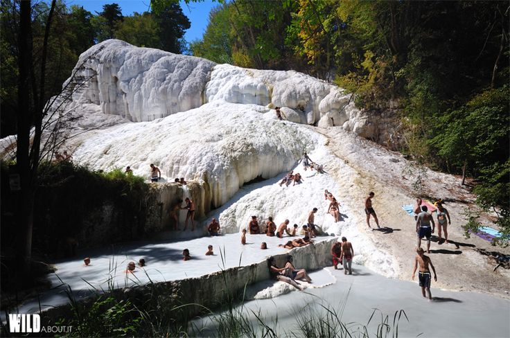 "White springs Tuscany - Italy Find more in ""Wild Swimming Italy"" book."
