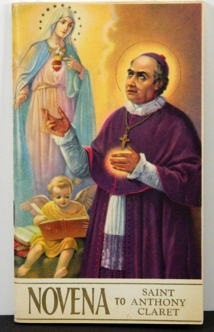Saint Anthony Claret Novena Vintage Catholic Booklet Mid-Century Prayer Book 18183 by JacksonsMarket on Etsy