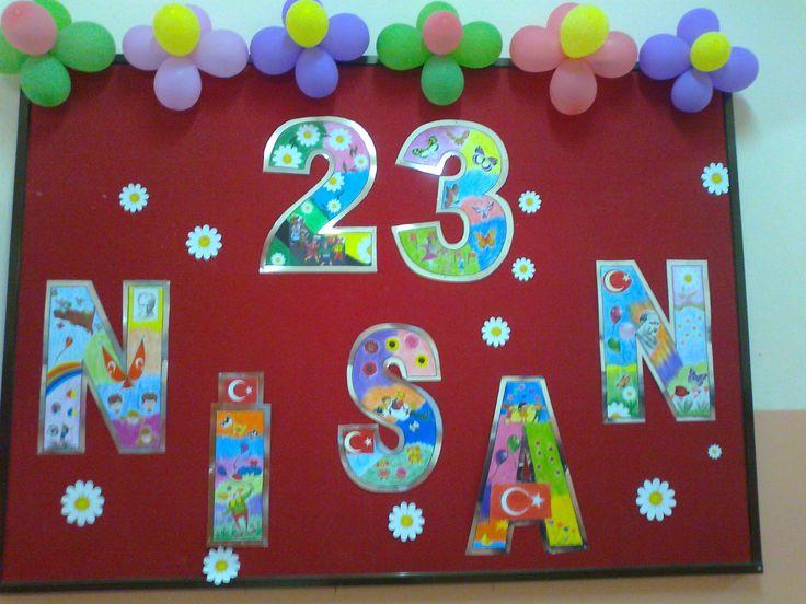 23 Nisan Ulusal Egemenlik ve Çocuk Bayramı panomuz