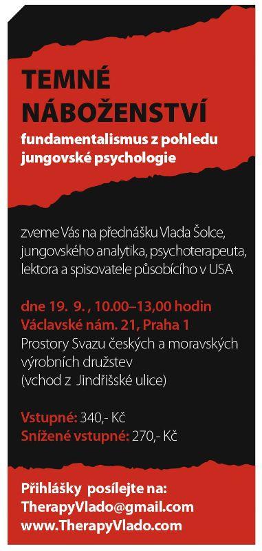 Přednáška: Temné náboženství Vlado Šolc