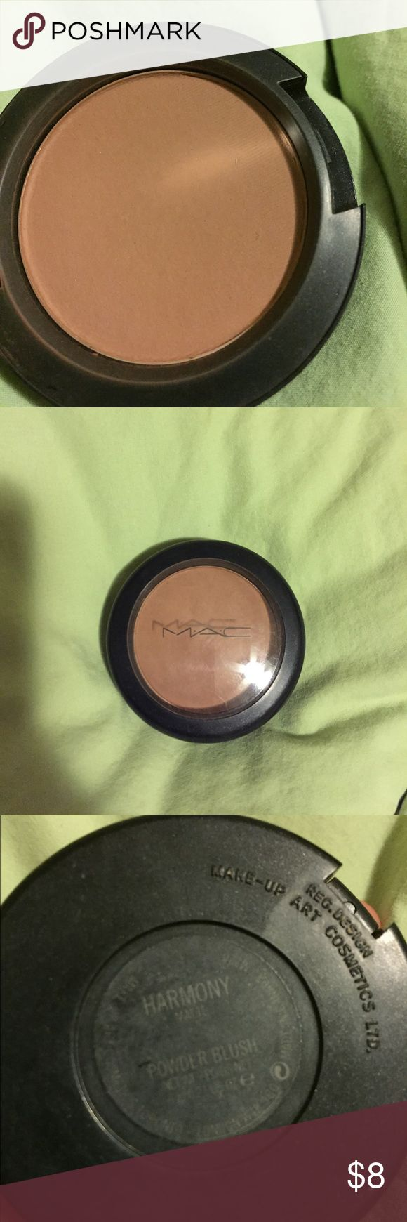 MAC harmony blush Used a handful of times. Purchased at Dillard's. Do not have box MAC Cosmetics Makeup Blush