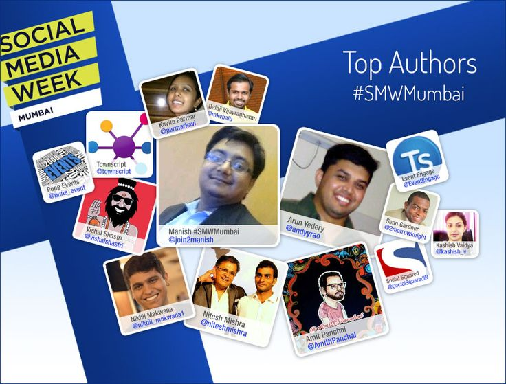 With 10 days to go for #SMWMumbai conversations on #SocialMedia are heating up.  Here are the top authors for Social Media Week Mumbai.  #SMW14