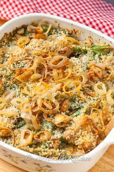 Best Ever Green Bean Casserole recipe, a most delicious Thanksgiving or Holiday side dish.