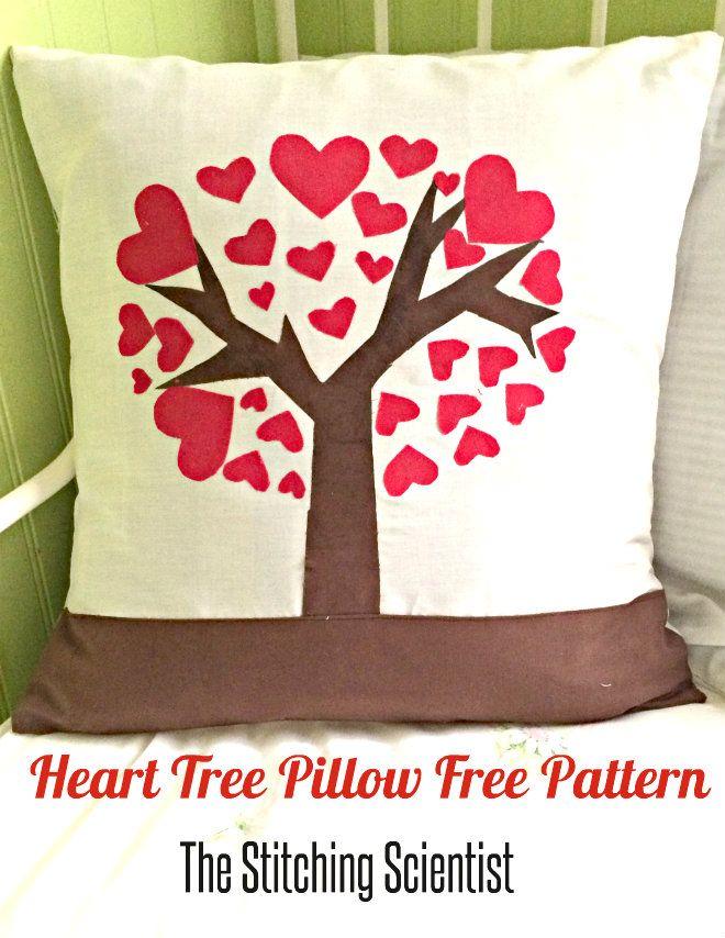 Free Sewing Pattern - Heart Tree Pillow