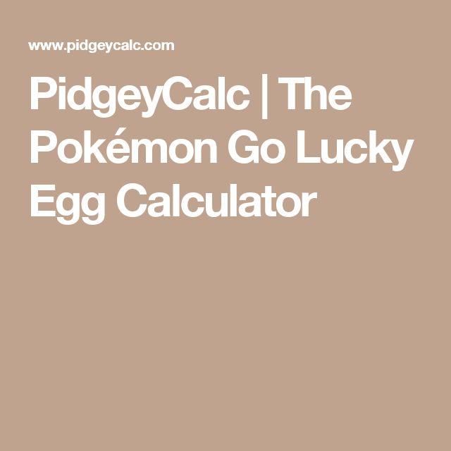 PidgeyCalc | The Pokémon Go Lucky Egg Calculator