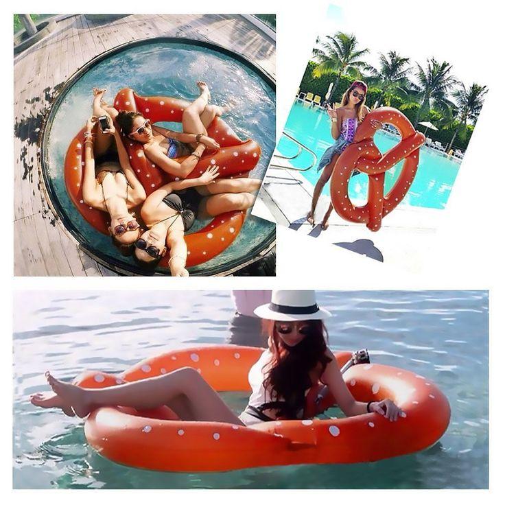 Aufblasbare Riesen Adult Swim Wasserschwimmer-Pool-Spielzeug - Sommer an der Isar mit der Bayerischen Riesen-Breze