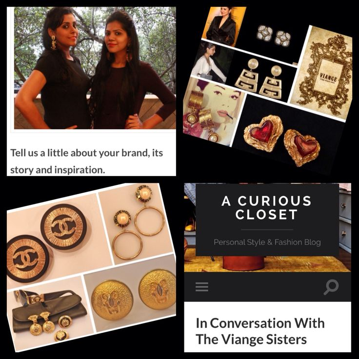 Viange featured in A Curious Closet blog! ❤️