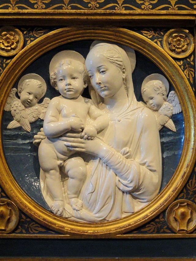 Andrea della Robbia: Madonna and Child with Cherubs (National Gallery of Art, Washington, DC)