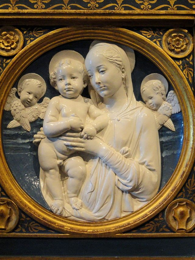 Madonna and Child with Cherubs by Andrea della Robbia - National Gallery of Art, Washington.