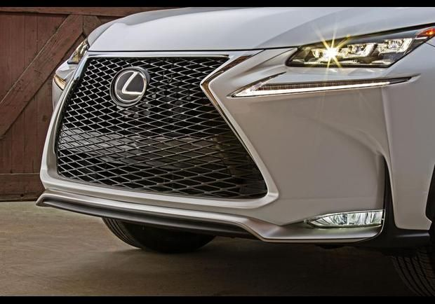 The design of the LED headlamps and daytime running lamps help give the NX its aggressive look.
