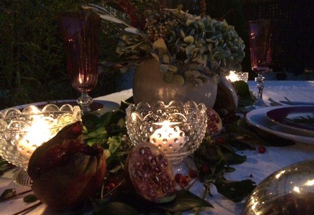 Decoración de mesa. Mesa decorada por Arqbellytura para la cena presentación de una línea de accesorios para una nueva firma de joyería