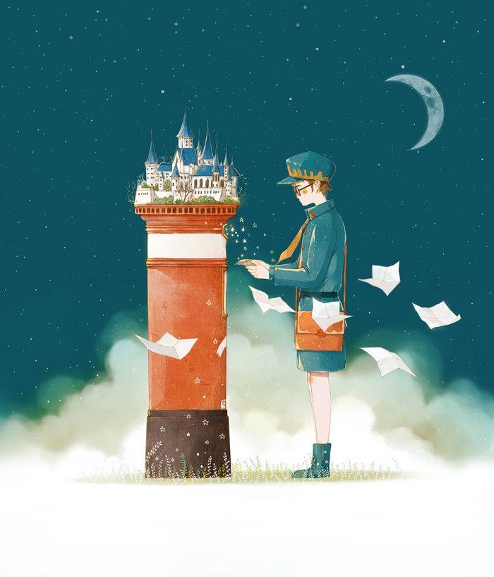 《童话镇》-starry阿星_绘本_涂鸦王国插画