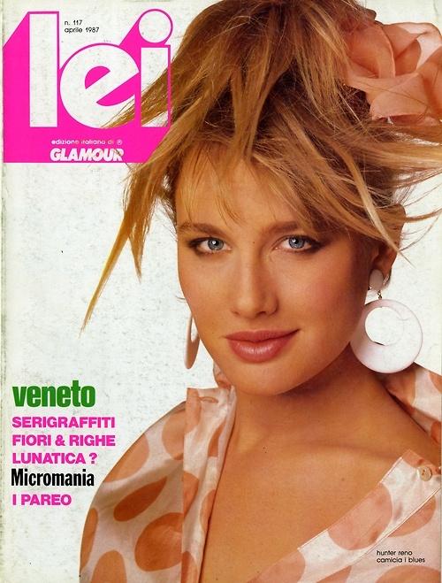 Hairstyle Magazine short hair magazine subscription April 1987 Lei Magazine Cover Ph Steven Meisel Makeup Francois Nars Hair Oribe