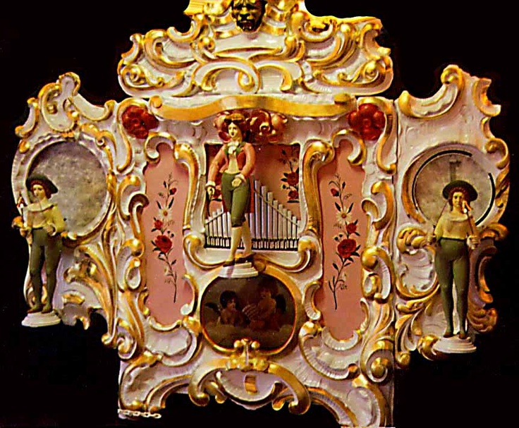 This spectacular instrument was originally built in Germany, circa 1900, by the Gebr. Wellershaus Company as a dance organ. Carl Frei, a respected and musically innovative craftsman, later rebuilt this lovely 66 key instrument into a carousel band organ. The heavily carved Wellershaus organ fronts are greatly admired for their exquisite relief carvings and splendid animated figures, which moved in tune to the music. Fully Restored, Three Moving Figures, ...........$ 95,000