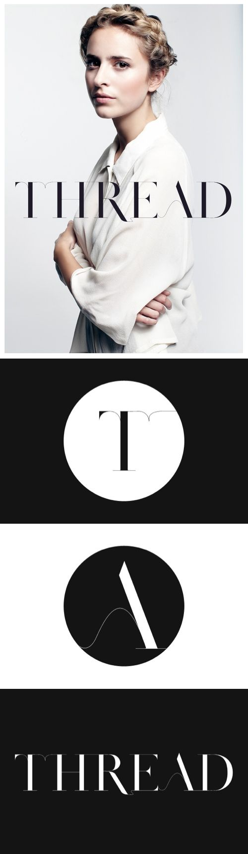 Thread Conceptual Identity Route by Tim Jarvis. Fashion logo