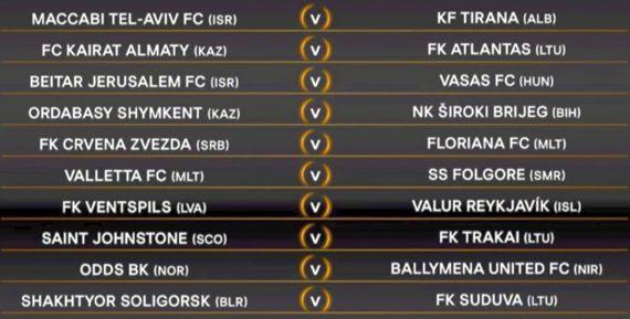 sportcampina: Europa League. Programul primelor două tururi prel...