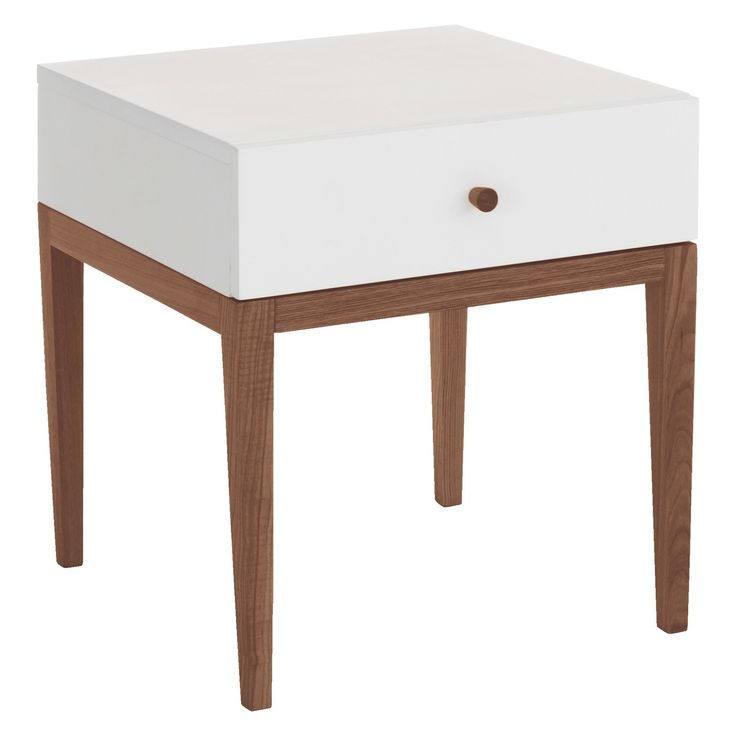 TATSUMA White 1 drawer bedside table | Buy now at Habitat UK