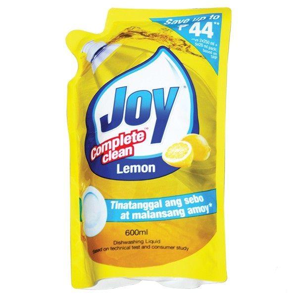 Joy Dishwashing Liquid Lemon Refill 600ml In 2020 Dishwashing