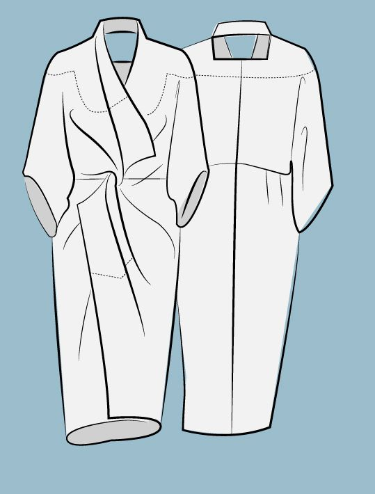zero waste Kimono Twist dress by Holly McQuillan/Studio Faro