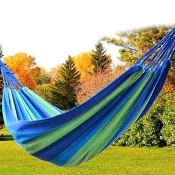 280*80 см красный/синий Портативный Открытый Сад Гамак Повесить кровать путешествия отдых качели кровать холст в полоску