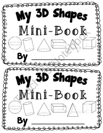 3D Shape Activity My 3D Shapes Mini-Book Common Core Aligned 3D Shape Fun product from Kool-in-KinderLand on TeachersNotebook.com