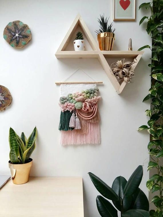 Weaving wall hanging textile tapestry boho wall decor fiber