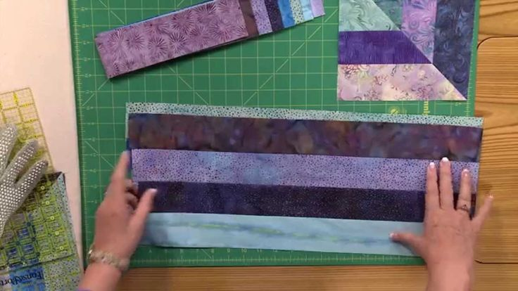 In this Quilting Quickly tutorial, the Fons & Porter staff show you how to make the block that goes into the quilt Cool Water. This batik quilt is made up of...