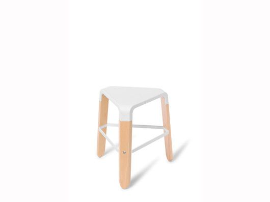 Pica: A trio of contemporary stools, in Beech timber paired with polypropylene. Comes in three sizes, low, kitchen and bar.