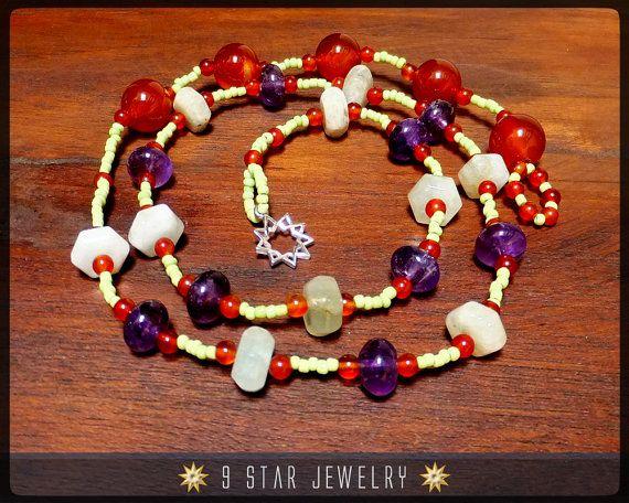 "Baha'i Prayer Beads  ""Fruitful Life""  (Alláh-u-Abhá)  by 9StarJewelry #bahai #9starjewelry #prayerbeads #etsy"