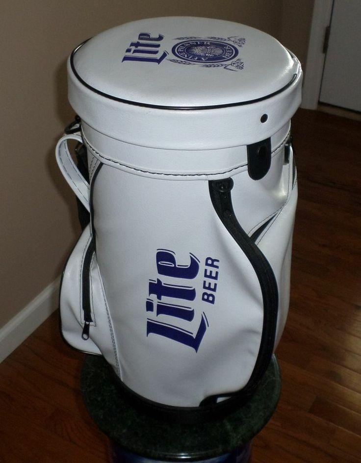 Miller Light Cooler Golf Bag Drink Lite Beer Picnic Golf